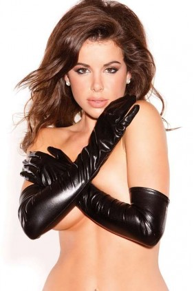 Wet Look Lycra Opera Gloves Sensual Elegance Fashion, Lingerie and Shoes Women's Sexy Clothing & Lingerie - Clubwear, Plus Size Clothing & Accessories