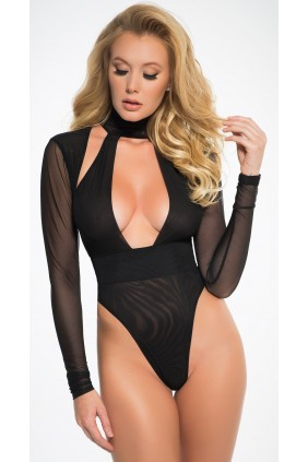 Black Tia Bodysuit Sensual Elegance Fashion, Lingerie and Shoes Women's Sexy Clothing & Lingerie - Clubwear, Plus Size Clothing & Accessories