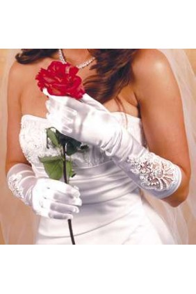 Formal Embellished Satin Gloves Sensual Elegance Fashion, Lingerie and Shoes Women's Sexy Clothing & Lingerie - Clubwear, Plus Size Clothing & Accessories