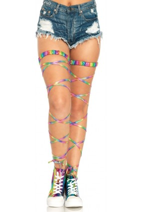 Rainbow Leg Wraps Sensual Elegance Fashion, Lingerie and Shoes Women's Sexy Clothing & Lingerie - Clubwear, Plus Size Clothing & Accessories
