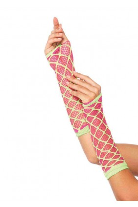 Duel Net Neon Arm Warmers Sensual Elegance Fashion, Lingerie and Shoes Women's Sexy Clothing & Lingerie - Clubwear, Plus Size Clothing & Accessories