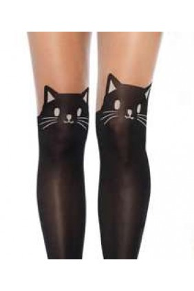 Adorable Black Kitty Cat Pantyhose 3 Pack Sensual Elegance Fashion, Lingerie and Shoes Women's Sexy Clothing & Lingerie - Clubwear, Plus Size Clothing & Accessories