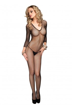 V Net Fishnet Bodystocking Sensual Elegance Fashion, Lingerie and Shoes Women's Sexy Clothing & Lingerie - Clubwear, Plus Size Clothing & Accessories