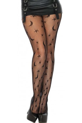 Celestial Net Black Tights Sensual Elegance Fashion, Lingerie and Shoes Women's Sexy Clothing & Lingerie - Clubwear, Plus Size Clothing & Accessories