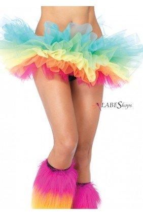 Rainbow Organza Tutu Petticoat Sensual Elegance Fashion, Lingerie and Shoes Women's Sexy Clothing & Lingerie - Clubwear, Plus Size Clothing & Accessories