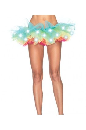 LED Light Up Rainbow Neon Tutu Petticoat Sensual Elegance Fashion, Lingerie and Shoes Women's Sexy Clothing & Lingerie - Clubwear, Plus Size Clothing & Accessories