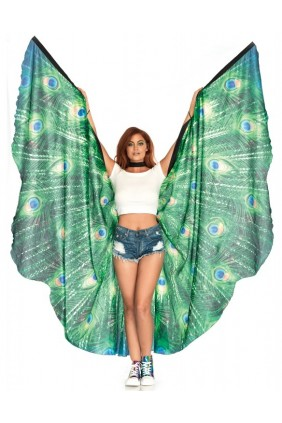 Peacock Festival Wings Sensual Elegance Fashion, Lingerie and Shoes Women's Sexy Clothing & Lingerie - Clubwear, Plus Size Clothing & Accessories