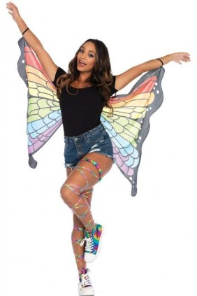 Rainbow Mini Butterfly Festival Wings Sensual Elegance Fashion, Lingerie and Shoes Women's Sexy Clothing & Lingerie - Clubwear, Plus Size Clothing & Accessories