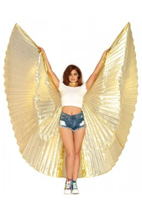 Isis Gold Pleated Festival Wings Sensual Elegance Fashion, Lingerie and Shoes Women's Sexy Clothing & Lingerie - Clubwear, Plus Size Clothing & Accessories