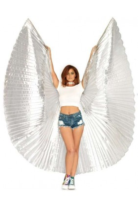Isis Silver Pleated Festival Wings Sensual Elegance Fashion, Lingerie and Shoes Women's Sexy Clothing & Lingerie - Clubwear, Plus Size Clothing & Accessories