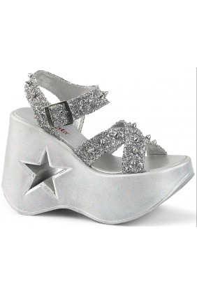Dynamite Star Womens Platform Silver Sandal Sensual Elegance Fashion, Lingerie and Shoes Women's Sexy Clothing & Lingerie - Clubwear, Plus Size Clothing & Accessories