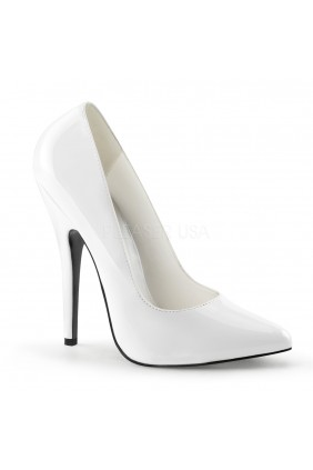 Classic White 6 Inch High Heel Pump Sensual Elegance Fashion, Lingerie and Shoes Women's Sexy Clothing & Lingerie - Clubwear, Plus Size Clothing & Accessories