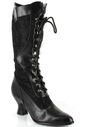 Rebecca Victorian Black Lace Boot Sensual Elegance Fashion, Lingerie and Shoes Women's Sexy Clothing & Lingerie - Clubwear, Plus Size Clothing & Accessories
