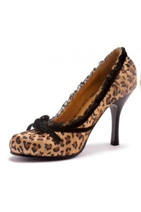 Satin Doll Leopard Print High Heel Pump Sensual Elegance Fashion, Lingerie and Shoes Women's Sexy Clothing & Lingerie - Clubwear, Plus Size Clothing & Accessories