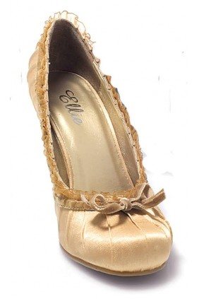 Satin Doll Gold High Heel Pump Sensual Elegance Fashion, Lingerie and Shoes Women's Sexy Clothing & Lingerie - Clubwear, Plus Size Clothing & Accessories
