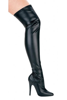 Ally Black Thigh High 5 Inch Heel Boot Sensual Elegance Fashion, Lingerie and Shoes Women's Sexy Clothing & Lingerie - Clubwear, Plus Size Clothing & Accessories