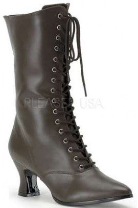 Brown Victorian Ankle Boot Sensual Elegance Fashion, Lingerie and Shoes Women's Sexy Clothing & Lingerie - Clubwear, Plus Size Clothing & Accessories