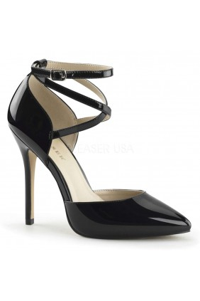 Dorsey Criss Cross Ankle Strap Black Amuse Pump Sensual Elegance Fashion, Lingerie and Shoes Women's Sexy Clothing & Lingerie - Clubwear, Plus Size Clothing & Accessories