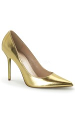 Gold Classique Pointed Toe Pump