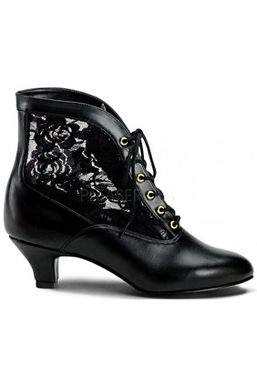 Victorian Dame Black Ankle Boot Sensual Elegance Fashion, Lingerie and Shoes Women's Sexy Clothing & Lingerie - Clubwear, Plus Size Clothing & Accessories