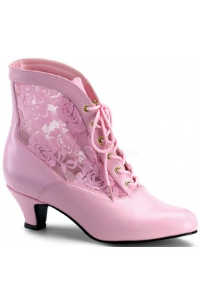 Victorian Dame Baby Pink Ankle Boot Sensual Elegance Fashion, Lingerie and Shoes Women's Sexy Clothing & Lingerie - Clubwear, Plus Size Clothing & Accessories