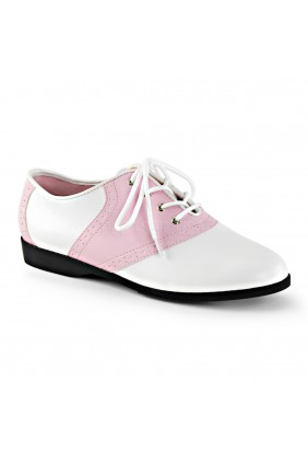 Saddle Shoe Pink and White Womens Flat Oxford Sensual Elegance Fashion, Lingerie and Shoes Women's Sexy Clothing & Lingerie - Clubwear, Plus Size Clothing & Accessories