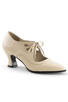 Victorian Cream Cut Out Womens Pump Sensual Elegance Fashion, Lingerie and Shoes Women's Sexy Clothing & Lingerie - Clubwear, Plus Size Clothing & Accessories