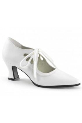 Victorian White Cut Out Womens Pump Sensual Elegance Fashion, Lingerie and Shoes Women's Sexy Clothing & Lingerie - Clubwear, Plus Size Clothing & Accessories