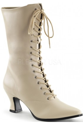 Cream Victorian Ankle Boot Sensual Elegance Fashion, Lingerie and Shoes Women's Sexy Clothing & Lingerie - Clubwear, Plus Size Clothing & Accessories