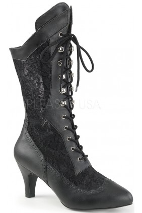 Divine Wide Width Black Victorian Platform Boot Sensual Elegance Fashion, Lingerie and Shoes Women's Sexy Clothing & Lingerie - Clubwear, Plus Size Clothing & Accessories