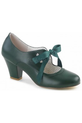 Wiggle Vintage Style Mary Jane Shoe in Forest Green Sensual Elegance Fashion, Lingerie and Shoes Women's Sexy Clothing & Lingerie - Clubwear, Plus Size Clothing & Accessories