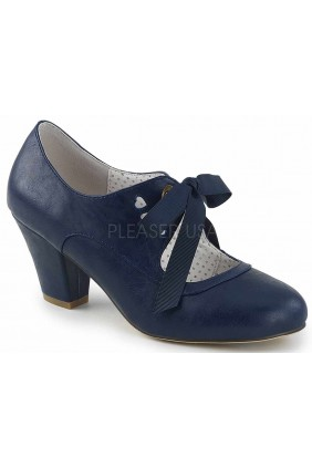 Wiggle Vintage Style Mary Jane Shoe in Navy Blue Sensual Elegance Fashion, Lingerie and Shoes Women's Sexy Clothing & Lingerie - Clubwear, Plus Size Clothing & Accessories
