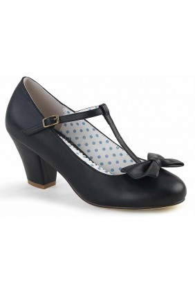 Wiggle Vintage Style T-Strap Shoe in Black Sensual Elegance Fashion, Lingerie and Shoes Women's Sexy Clothing & Lingerie - Clubwear, Plus Size Clothing & Accessories