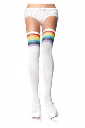 Over the Rainbow Thigh High Stockings Sensual Elegance Fashion, Lingerie and Shoes Women's Sexy Clothing & Lingerie - Clubwear, Plus Size Clothing & Accessories