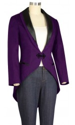 Tuxedo Jacket with Tails for Women in Purple