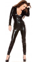 Kitten Wet Look Lycra Catsuit