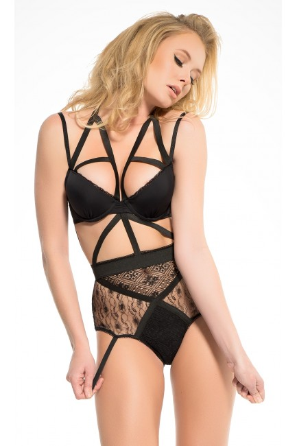 Angel of Love Black Lace Teddy at Sensual Elegance Fashion, Lingerie and Shoes, Women's Sexy Clothing & Lingerie - Clubwear, Plus Size Clothing & Accessories