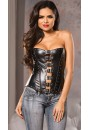 Buckled Front Faux Leather Corset at Sensual Elegance Fashion, Lingerie and Shoes, Women's Sexy Clothing & Lingerie - Clubwear, Plus Size Clothing & Accessories