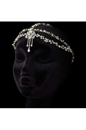 Pearl and Rhinestone Forehead Accent Head Piece Sensual Elegance Fashion, Lingerie and Shoes Women's Sexy Clothing & Lingerie - Clubwear, Plus Size Clothing & Accessories