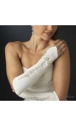 Desinger Embellished Fingerless Gloves