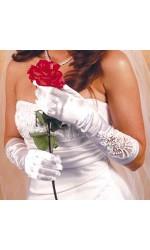 Formal Embellished Satin Gloves