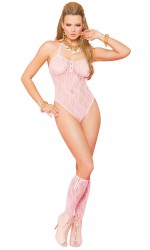 Baby Pink Lace Teddy with Stockings