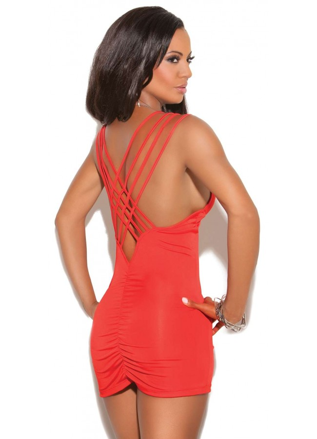 89ca27c8223 ... Red Hot Deep V Mini Dress at Sensual Elegance Fashion, Lingerie and  Shoes, Women's