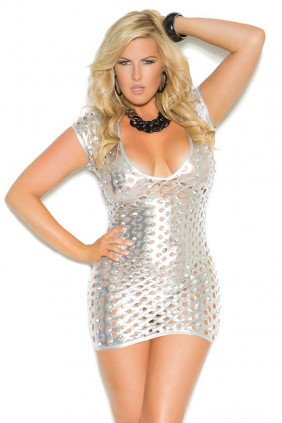 Silver Foil Lame Party Dress Sensual Elegance Fashion, Lingerie and Shoes Women's Very Sexy Lingerie & Clothing - Clubwear, Bridal Lingerie & Plus Size Lingerie