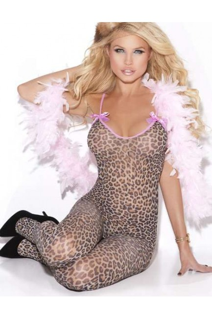 Sheer Leopard Print Body Stocking at Sensual Elegance Fashion, Lingerie and Shoes, Women's Sexy Clothing & Lingerie - Clubwear, Plus Size Clothing & Accessories