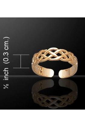 Celtic Knotwork Gold Vermeil Toe Ring Sensual Elegance Fashion, Lingerie and Shoes Women's Very Sexy Lingerie & Clothing - Clubwear, Bridal Lingerie & Plus Size Lingerie