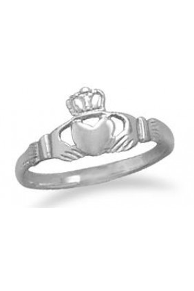 Claddagh Small Sterling Silver Ring Sensual Elegance Fashion, Lingerie and Shoes Women's Sexy Clothing & Lingerie - Clubwear, Plus Size Clothing & Accessories