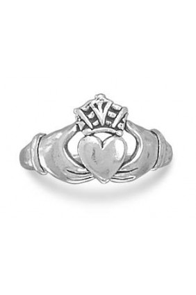 Claddagh Oxidized Sterling Silver Ring Sensual Elegance Fashion, Lingerie and Shoes Women's Sexy Clothing & Lingerie - Clubwear, Plus Size Clothing & Accessories