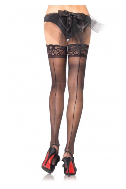 Lace Top Backseam Stay Up Thigh High Stockings - Pack of 3 at Sensual Elegance Fashion, Lingerie and Shoes, Women's Sexy Clothing & Lingerie - Clubwear, Plus Size Clothing & Accessories