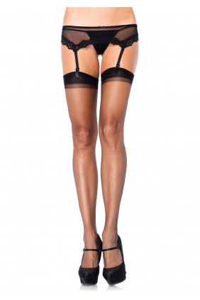 Black Spandex Ultra Sheer Garter Stockings - Pack of 3 Sensual Elegance Fashion, Lingerie and Shoes Women's Sexy Clothing & Lingerie - Clubwear, Plus Size Clothing & Accessories